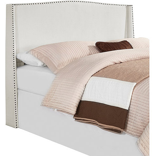 Stamford Full/Queen Upholstered Wingback Headboard, Glacier