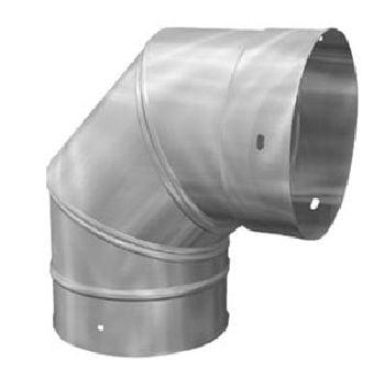 6'' Homeowners Choice 24 Gauge Stainless Steel 90'' Adjustable (24 Gauge Stainless Steel Elbow)