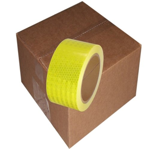 "Ultra High Intensity Reflective Tape 2"" x 30' (6 Roll/Case) Bright Yellow"