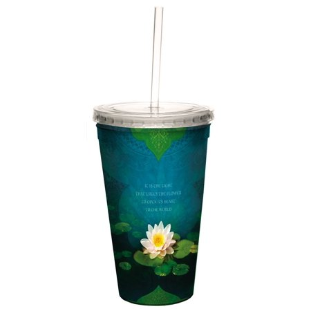 Tree Free Greetings 35555 Angi And Silas Bouquet Of Light Double Walled Cool Cup With Reusable Straw  16 Ounce