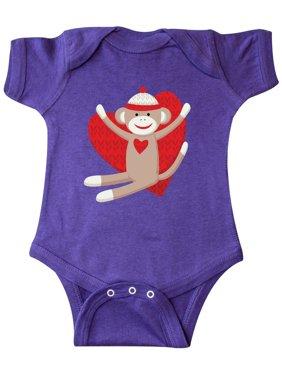 Hug Sock Monkey Infant Creeper