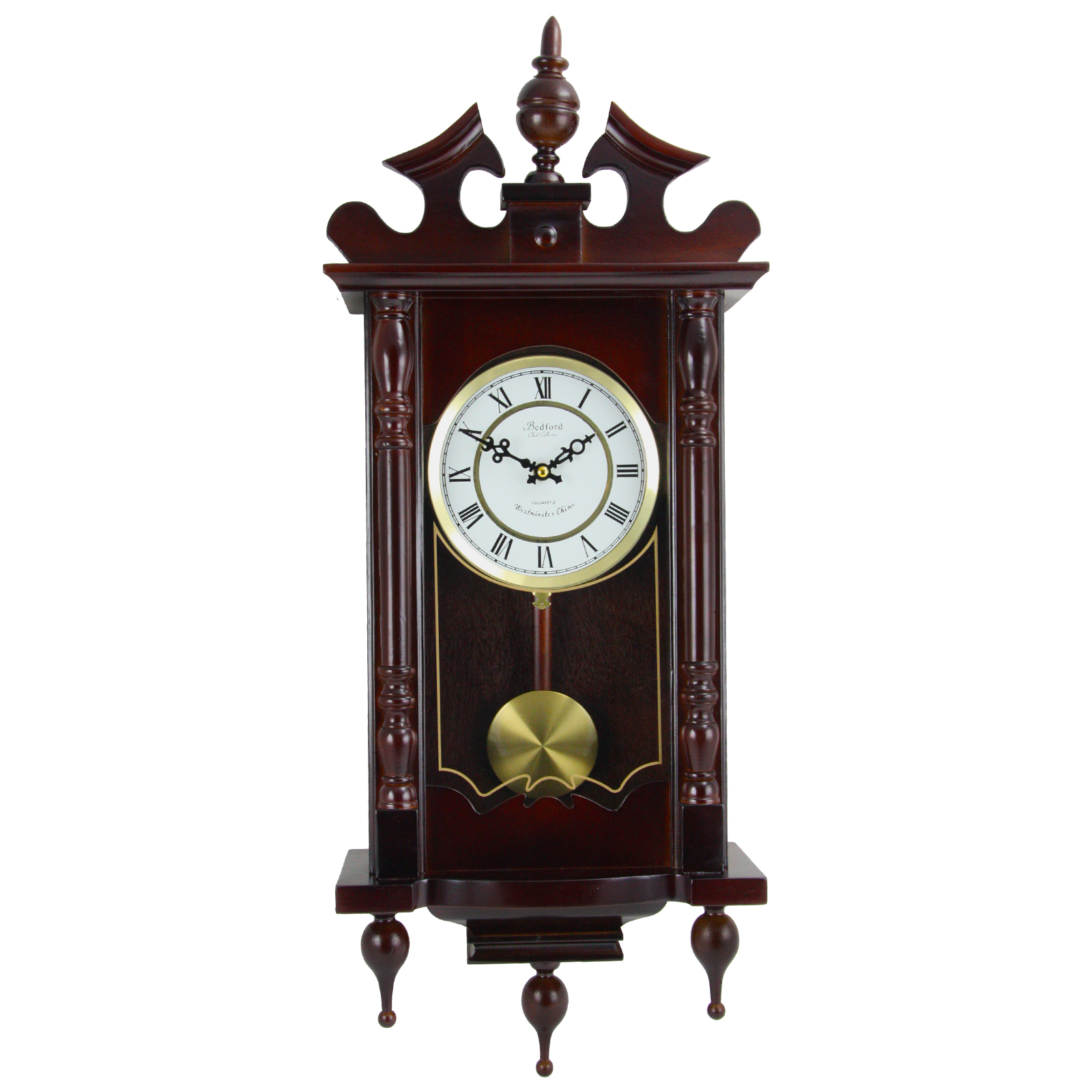 "Bedford Clock Collection Classic 31"" Chiming Wall Clock With Roman Numerals And A... by Bedford Clock Collection"