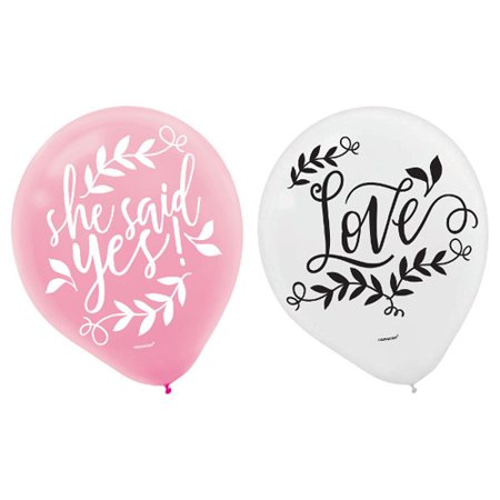 Wedding and Bridal 'Love and Leaves' Latex Balloons - Palm Tree Leaf Balloons