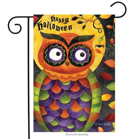Spooky Woods Halloween (spooky owl halloween garden flag primitive holiday 12.5
