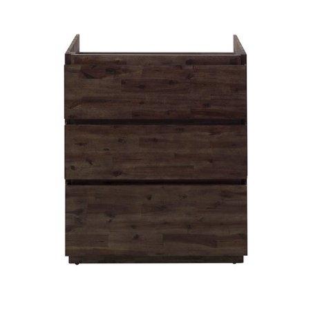 Floor Standing Vanity Unit - Fresca Formosa Floor Standing 29'' Single Bathroom Vanity Base Only
