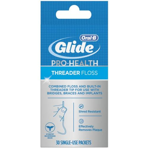 Glide Threader Floss 30 Each (Pack of 6)