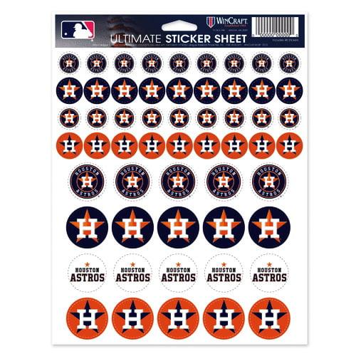 Houston Astros 8.5'' x 11'' Sticker Sheet - No Size