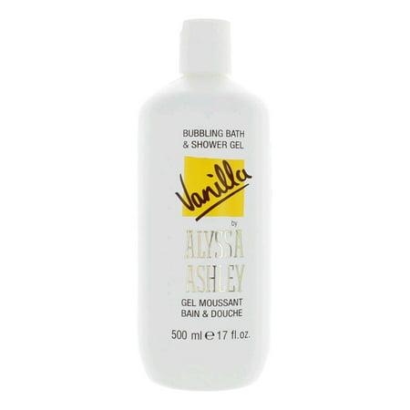 Ashley Gel - Vanilla by Alyssa Ashley, 17 oz Bubbling Bath & Shower Gel for Women