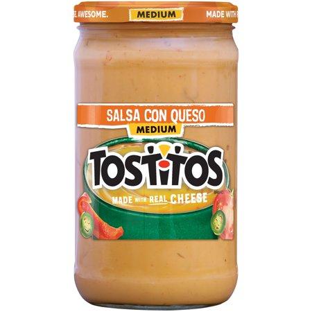 Tostitos  Medium Salsa Con Queso 23 Oz  Jar
