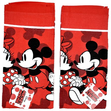 Boston Red Sox Kitchen Towel (Mickey & Minnie Mouse Kitchen Dish Towels Set Red (2-PACK) )