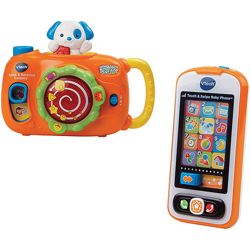 VTech Snap & Surprise Camera and Touch & Swipe Baby Phone Bundle