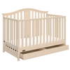 Graco Solano 4 in 1 Convertible Crib with Drawer Whitewash