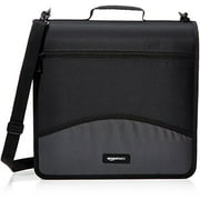 3-Ring Binder with Zipper - O-Ring, 3 Inch, Black