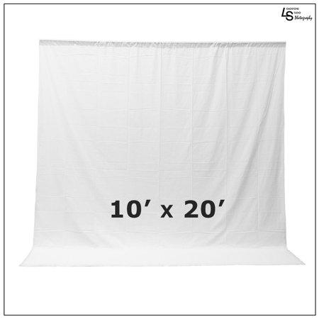 Muslin Background Solid White Color - Loadstone Studio Photo Video Studio Seamless 10' x 20' Solid White Muslin Backdrop Photo Studio Background , WMLS1656