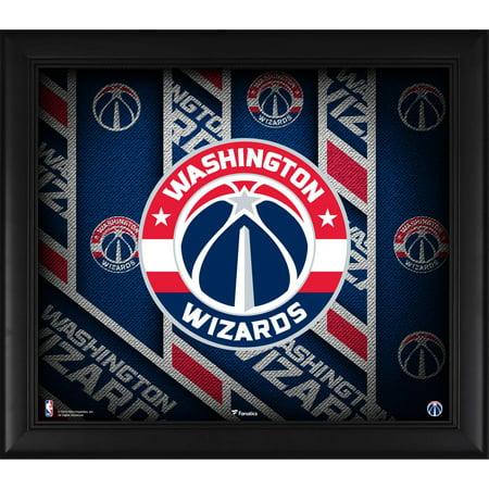 """Washington Wizards Framed 15"""" x 17"""" Team Threads Collage"""
