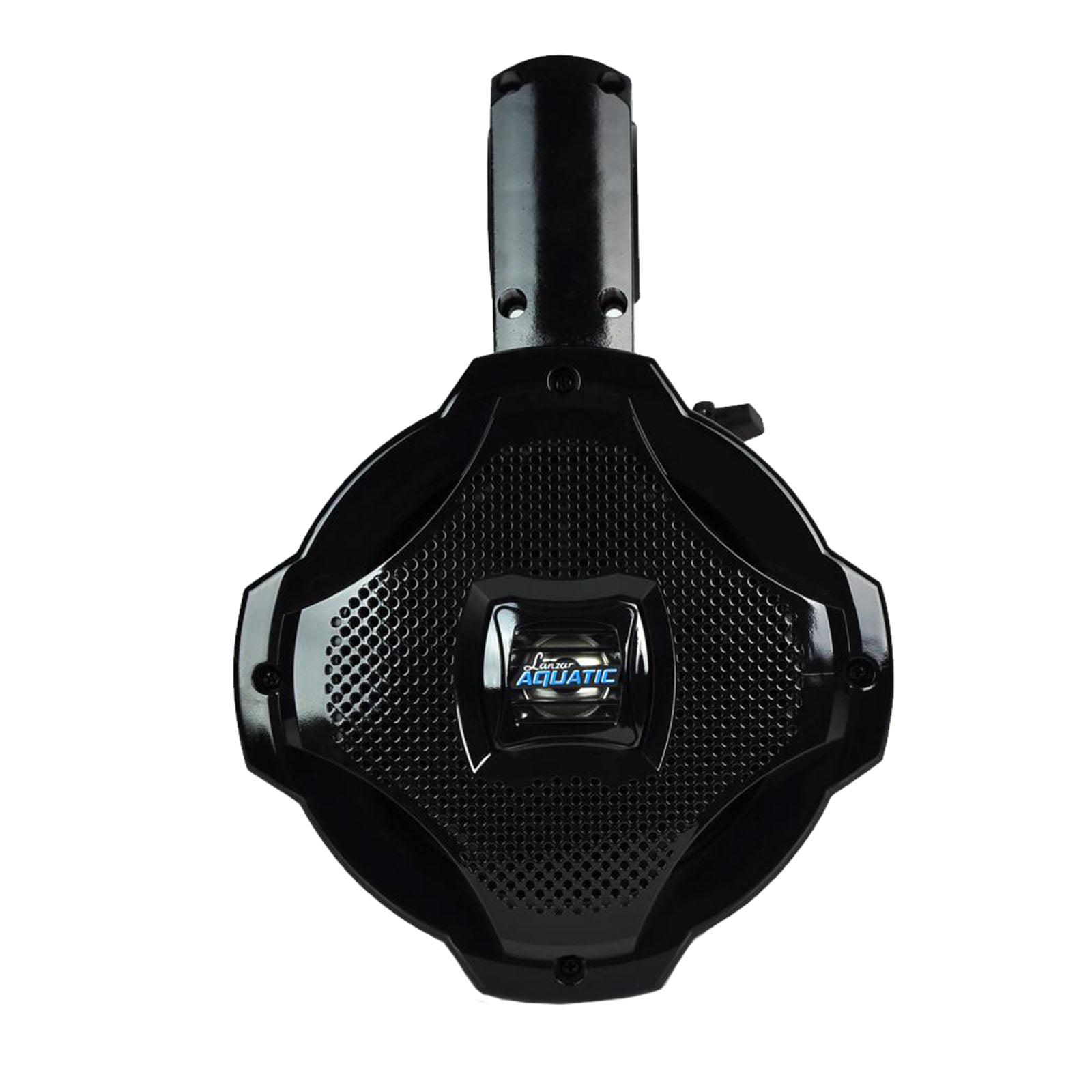 """6.5"""" BT Marine Wakeboard Speaker, Water Resistant 2-Way Tower Speaker, 1000 Watt (Black) by Lanzar"""