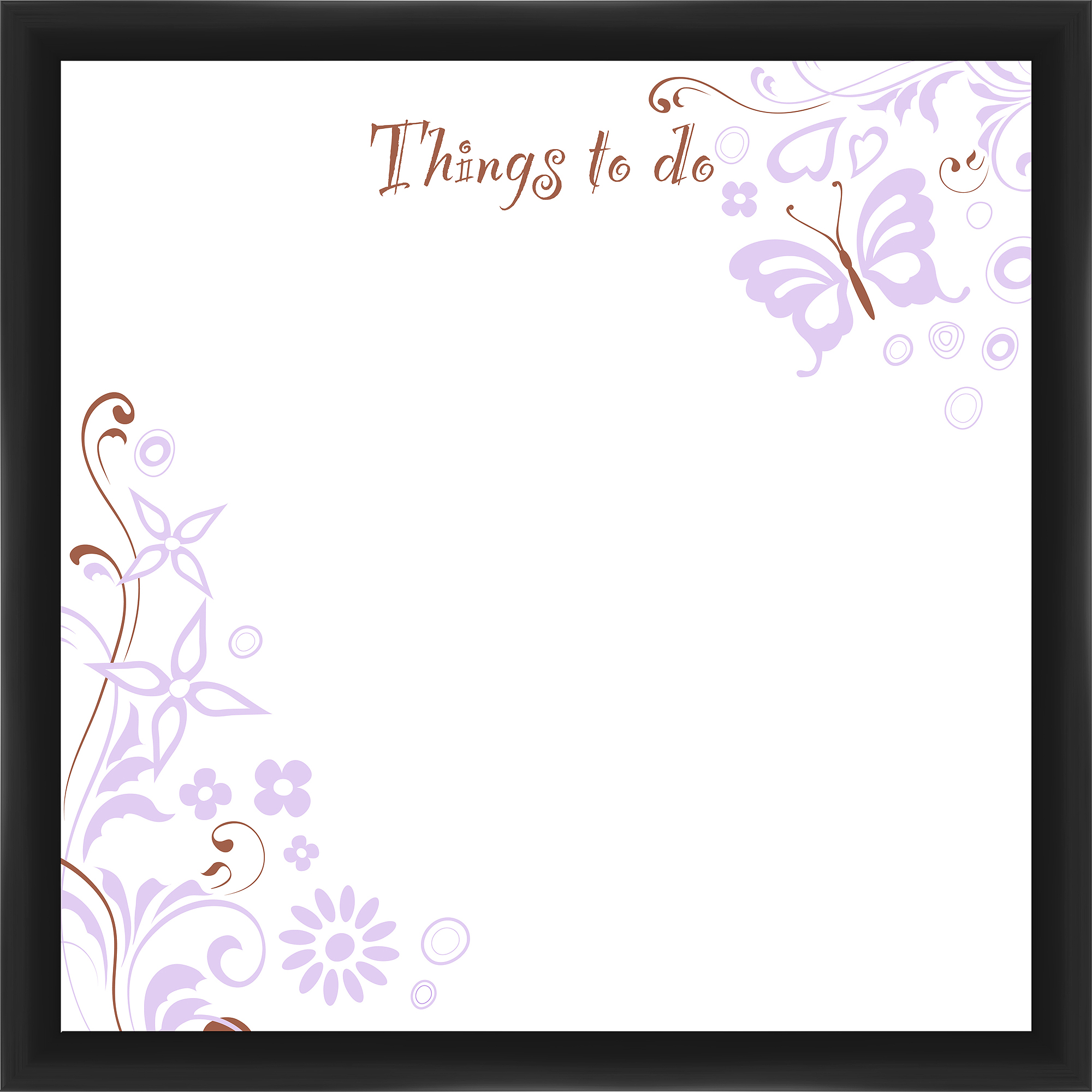 Things To Do Black Memoboard