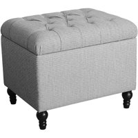 HomePop Medium Tufted Storage Ottoman, Multiple Colors