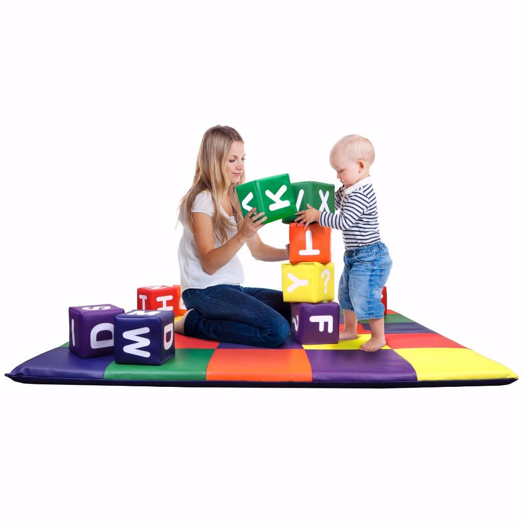 Dream Tree Kids Soft Foam Blocks ALPHABET [Set of 12]