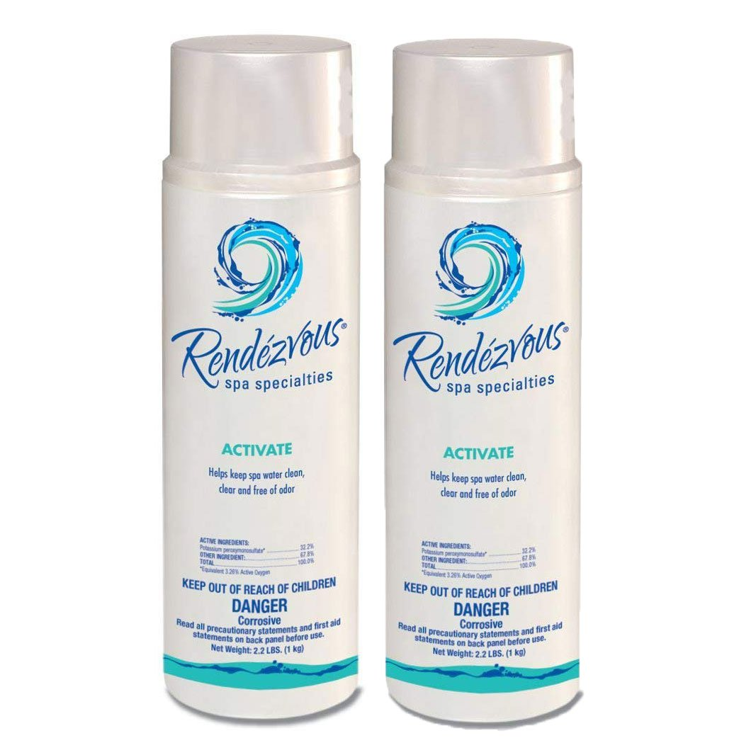 Rendezvous Spa Activate 2.2 LB 106696A Chlorine Free Oxidizer System, 2 Pack