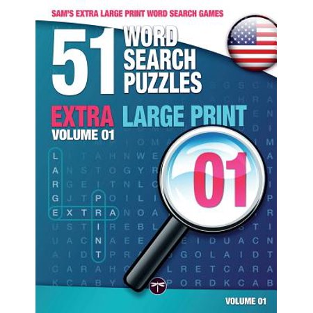 Sam's Extra Large-Print Word Search Games : 51 Word Search Puzzles, Volume 1: Brain-Stimulating Puzzle Activities for Many Hours of (Best Brain Stimulating Games)
