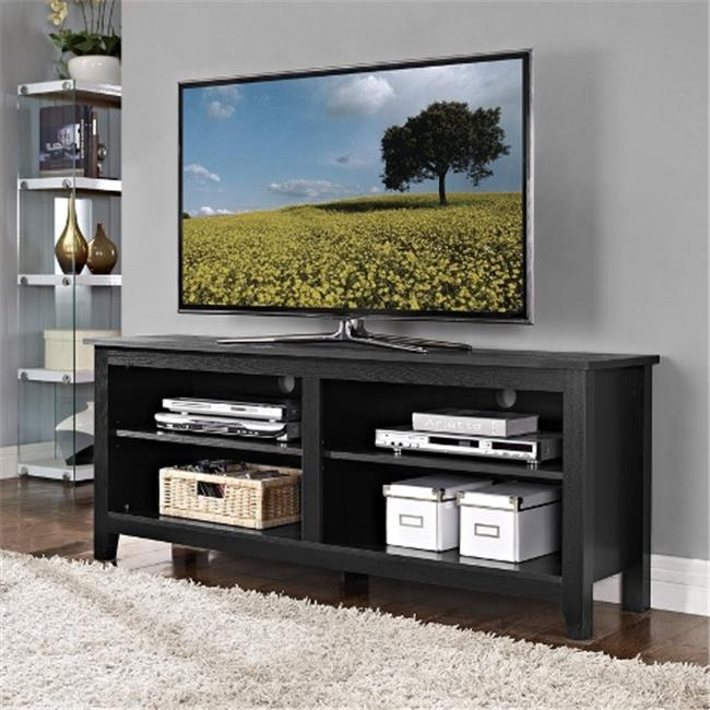 Walker Edison Furniture W58CSPNT Natural Wood TV Stand   58 In.