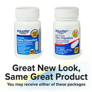 Equate Fast Acting Dairy Digestive Dietary Supplements, 60 Count
