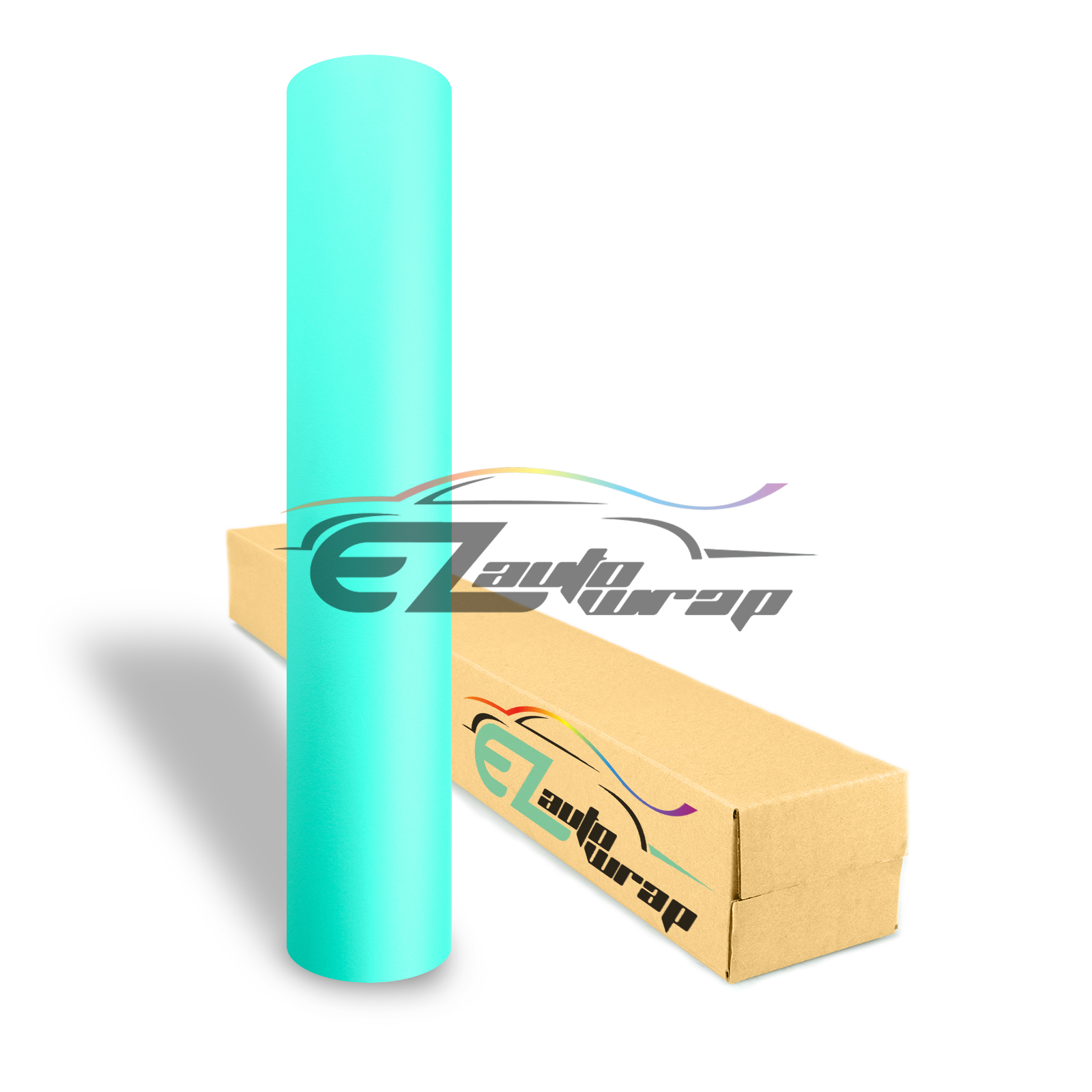 EZAUTOWRAP Matte Tiffany Blue Teal Car Vinyl Wrap Vehicle Sticker Decal Film Sheet Peel And Stick With Air Release Technology Decoration Wallpaper