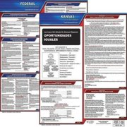 JJ KELLER 200-KS-5 Labor Law Poster,Fed/STA,KS,SP,20inH,5yr