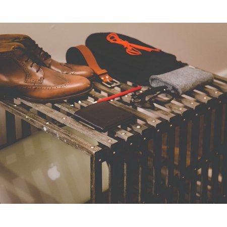 Canvas Print Shoes Clothes Belt Vintage Fashion Glasses Pen Stretched Canvas 10 x 14 (Glass Shoes)