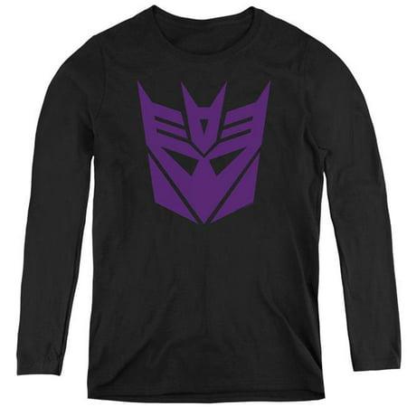 Trevco Sportswear HBRO128-WL-3 Transformers & Decepticon - Womens Long Sleeve T-Shirt, Black - Large - image 1 of 1