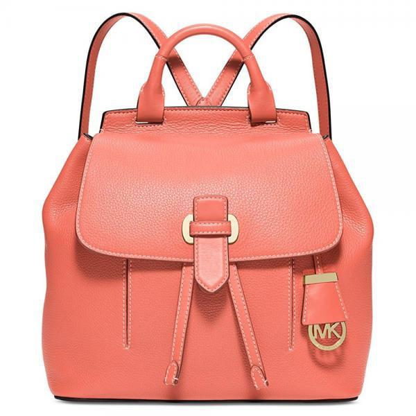 738b22d33cda 852ef 9c2a3; where to buy michael kors romy medium backpack pebble leather  grapefruit pink gold 493ef c2543