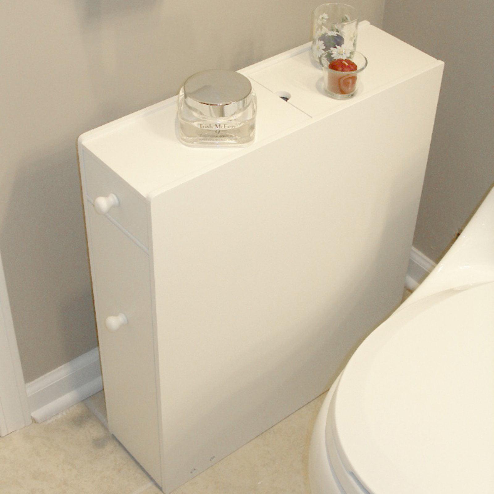 ZLMN46001 Bathroom Floor Cabinet in White