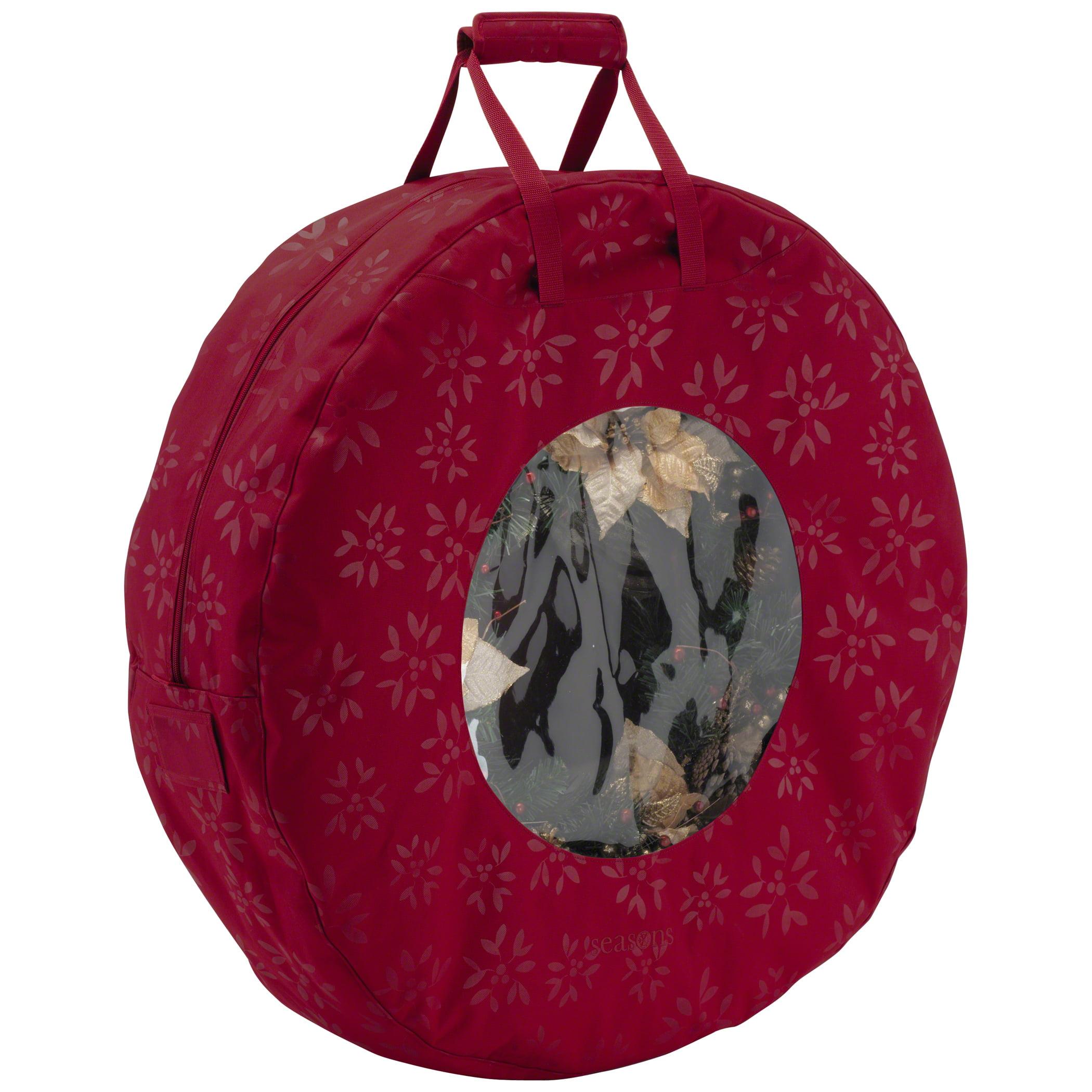 Classic Accessories Seasons Wreath Storage Bag - Heavy-Duty Holiday Storage, Large