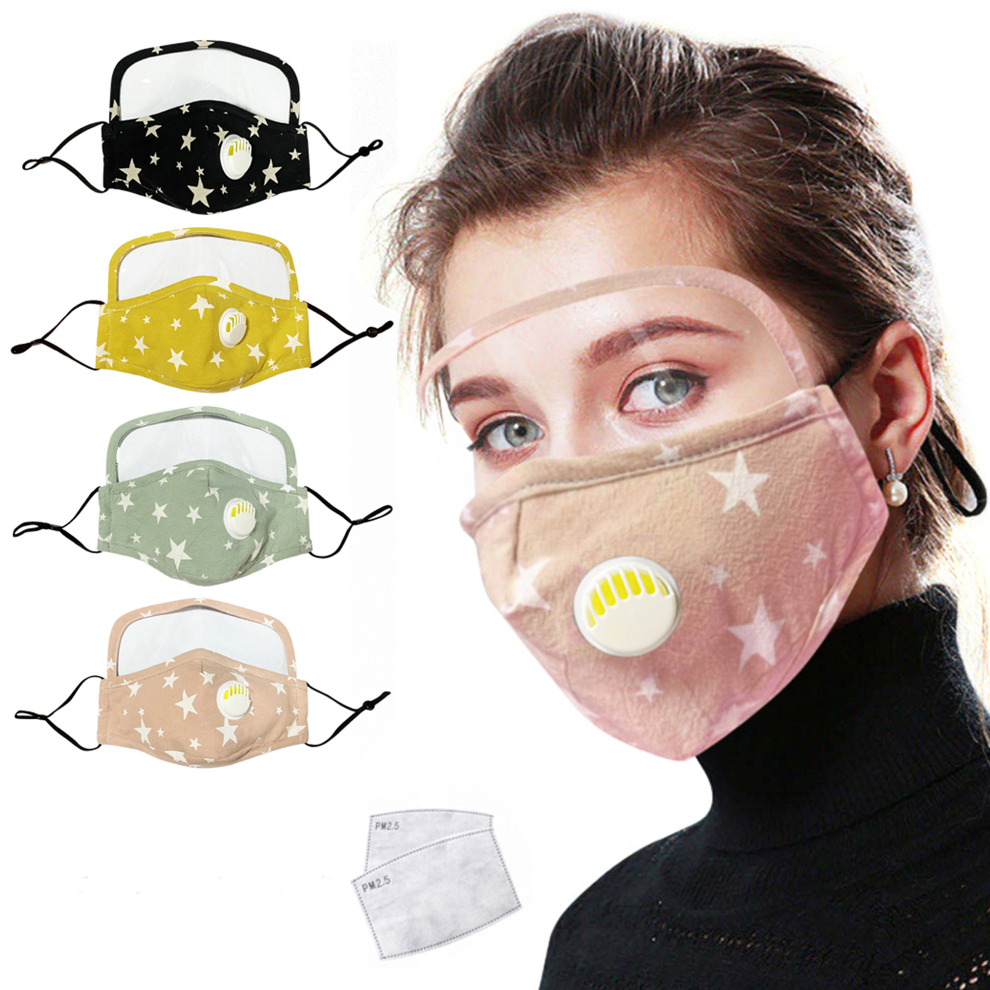 10PC Protection Washable Face Cover Mouth Anti Dust  Reusable Breathable Outdoor