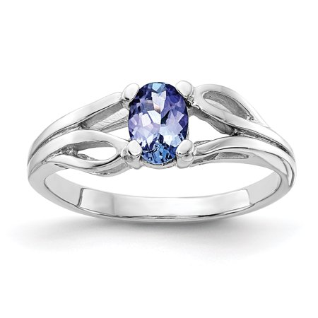 7375fa7af67 Saris and Things - 14K White Gold Rhodium Plated 2-7 mm Tanzanite ...