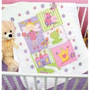 Dimensions® Fairy Baby Quilt Stamped Cross-Stitch Kit