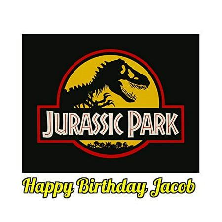 1 4 Sheet Jurassic Park Logo Edible Frosting Cake Topper