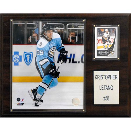 C&I Collectables NHL 12x15 Kris Letang Pittsburgh Penguins Player Plaque