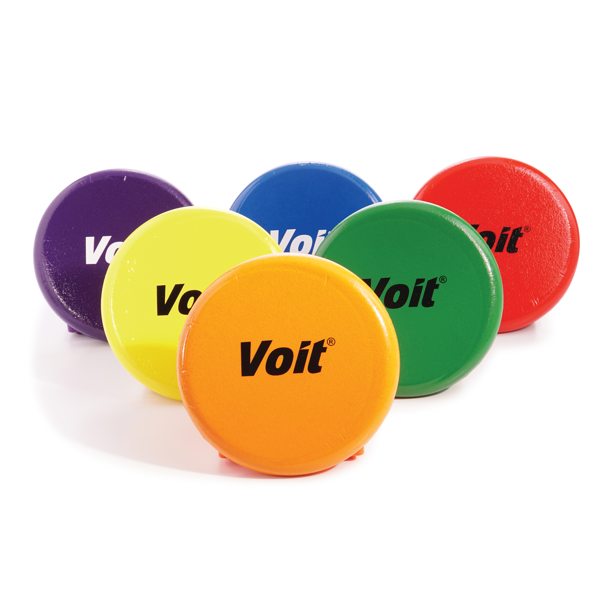 Voit® 8.5 in. Tuff-Coated Foam Flying Discs, Rainbow Pack of 6