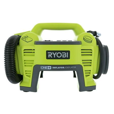 Ryobi P731 One+ 18v Dual Function Power Inflator/Deflator Cordless Air Compressor Kit w/