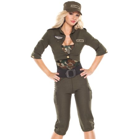 Coquette Sexy Womens Army Military Cadet Halloween - Army Halloween Costume Women