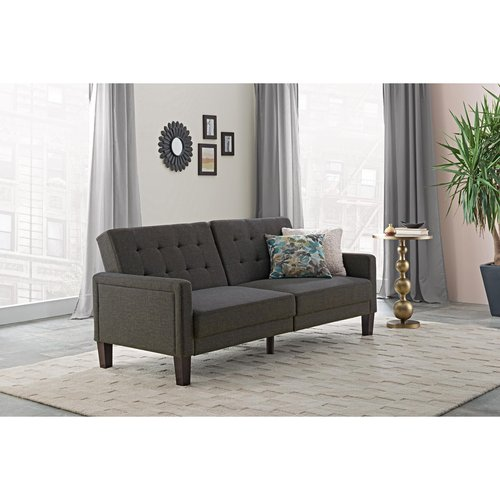 better homes and gardens porter fabric tufted futon multiple colors image 2 of 15 better homes and gardens porter fabric tufted futon multiple      rh   walmart