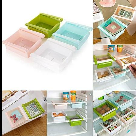 Plastic Fridge Storage Sliding Drawer Shelf Box Basket Organizer Pink - image 3 of 4