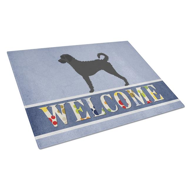 Carolines Treasures BB8337LCB Labradoodle Welcome Glass Cutting Board - Large - image 1 of 1
