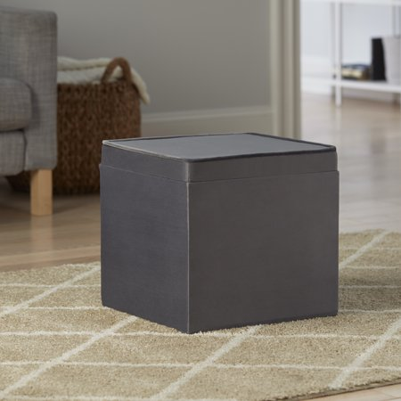 Better Home & Gardens Velvet Storage Ottoman with Tray, Multiple Colors ()