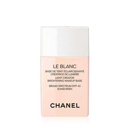 CHANEL LE BLANC Light Creator Brightening Makeup Base Broad Spectrum SPF 40 Sunscreen (Chanel Le Blanc Intensive Spot Treatment Review)