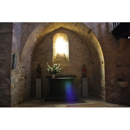 Canvas Print Stone Arch Arch Religious Archway Church Sunlight Stretched Canvas 10 x 14
