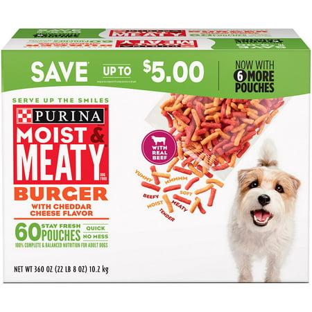 Purina Moist & Meaty Dog Food, Burger (6 oz., 60 (Best Dog Foods On The Market)
