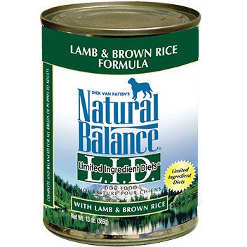 Fish Dog Canned Formula - Natural Balance L.I.D. Limited Ingredient Diets Lamb & Brown Rice Canned Dog Formula